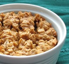 The Oatmeal Artist: Peanut Butter Cookie Baked Oatmeal.  With a few substitutions