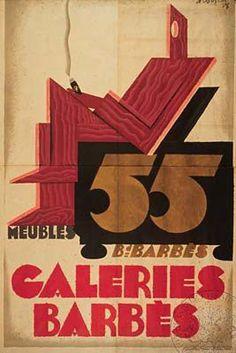 """""""Galérie Barbès"""", Loupot, 1928 / Les Arts Décoratifs, Paris"""