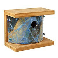 Nest box for bluebirds, wrens, sparrows, larks and nuthatches..handmade  $75.00    uncommongoods.com