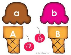 Letter recognition ice cream cones - perfect letter practice for preschoolers and kindergartners over the summer