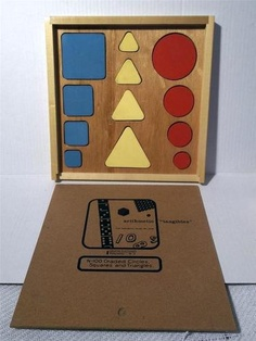 Vintage Creative Playthings Arithmetic Tangibles Graded Shapes Wooden Toy N 100   eBay