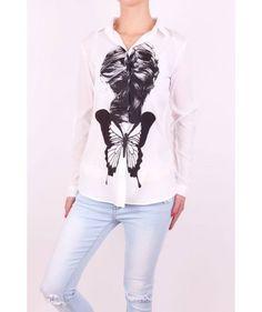 Biela blúzka M242 Graphic Sweatshirt, Sweatshirts, Sweaters, Fashion, Moda, La Mode, Pullover, Sweater, Fasion