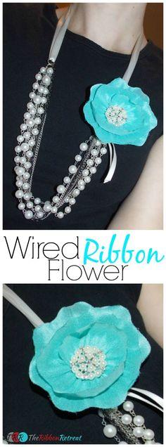 Wired Ribbon Flower - The Ribbon Retreat Blog