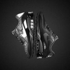 NIKE AIR MAX 90 CMFT PREMIUM TAPE BLACK/BLACK-SILVER/METALLIC SILVER #sneaker