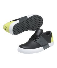 Take a look at this Black & Dark Shadow El Ace 3 Junior Sneaker by PUMA on #zulily today!