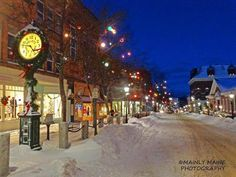 Christmas in Bath, Maine Vacation Places, Places To Travel, Places To Visit, Bath Maine, New England Travel, Winter Pictures, Countries Of The World, New Hampshire, Places Ive Been