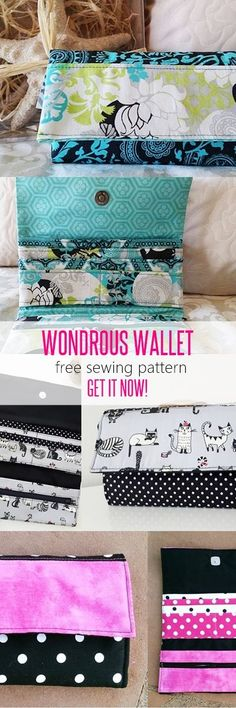 free wallet patterns, wallet pattern, handmade wallet tutorial, DIY wallet, how to sew a wallet