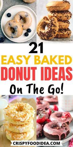 Cake Donut Recipes, Best Donut Recipe, Vegan Donut Recipe, Snack Recipes, Keto Donuts, Baked Doughnuts, Epicure Recipes, Sweet Recipes, Delicious Donuts