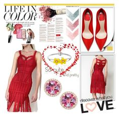 """""""Legerbabe  Red Detail Dress"""" by qingbabe ❤ liked on Polyvore featuring Frederic Sage"""