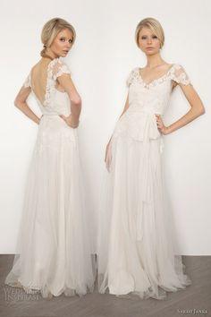 sarah janks brigitte wedding dress lace short sleeves @ Wedding-Day-BlissWedding-Day-Bliss