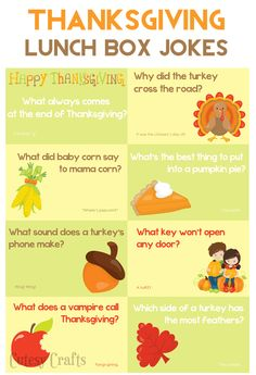 School Lunch Ideas - Thanksgiving Lunch Box Jokes #HorizonLunch #ad