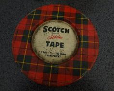 Vintage Scotch Tape Tin.  I remember these