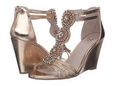 Vince Camuto Zimily Rose Gold Metallic Snakeskin Leather Sandals Size 6 | eBay, $80