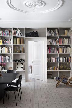 Revisiting Designer Yvonne Koné's Home in Copenhagen - Nordic Design Eclectic Furniture, Design Furniture, Plywood Furniture, Bookshelves Built In, Bookcase, My Ideal Home, Piece A Vivre, Paint Colors For Living Room, Nordic Design