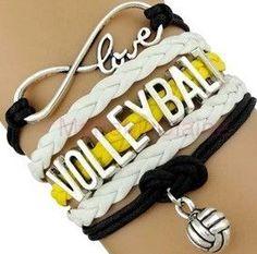 Volleyball Bracelet - Yellow/White