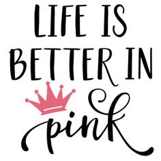 Silhouette Design Store: life is better in pink phrase Baby Silhouette, Silhouette Design, Silhouette Machine, Craft Room Signs, Vinyl Shirts, Bow Shirts, Silhouette Cameo Projects, Vinyl Projects, Vinyl Designs