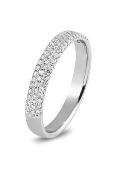 Witgouden diamant ring van het merk Siebel Signature. De ring is gezet met 67 briljant van totaal 0,34crt.