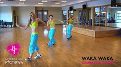 Waka Waka with Zumba! I did this today and its a great way to get your heart pumping in 3 minutes