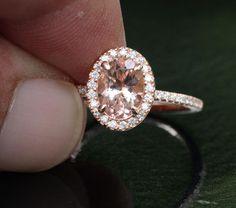 Rose Gold Morganite Ring Morganite Engagement por Twoperidotbirds