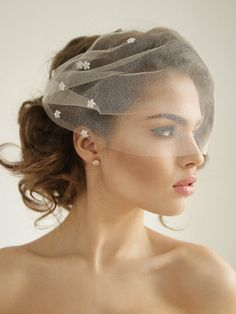 Hey, I found this really awesome Etsy listing at https://www.etsy.com/listing/231093488/silk-tulle-bandeau-birdcage-wedding-veil
