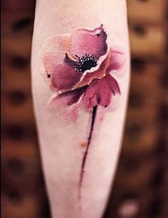Cool 3D Watercolor Flower Arm Tattoos for Women - MyBodiArt.com