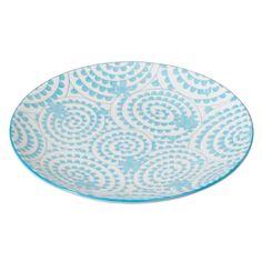 Japanese Side Plate Blue Swirls