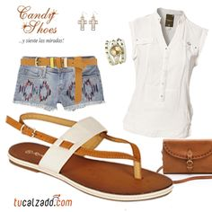 ¡Combina la ternura! www.tucalzado.com #Tendencias #Moda #Look #Sandalias