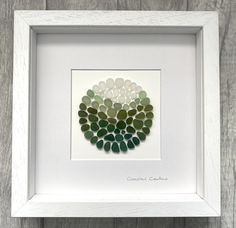 Sea Glass Mosaic, Sea Glass Beach, Sea Glass Art, Glass Wall Art, Sea Glass Decor, Beach Stones, Glass Shadow Box, Sea Glass Crafts, Reclaimed Wood Art