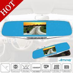 5 Inch Car DVR Camera Video Recorder 1080P Rearview Mirror Dash Cam 170 Degree Angle Vehicle Dual Lens Car Black Box Rear View