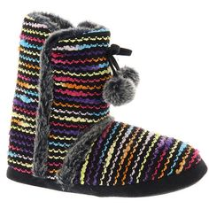 Happy Feet Snooki Slipper Boot ($30) ❤ liked on Polyvore featuring shoes,  slippers