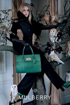Cara Delevingne in Mulberry's fall campaign. [Photo by Tim Walker]