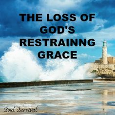 """National Sin & Restraining Grace"" - In Jeremiah's day God removed His restraining grace and let sin run its course because of their ongoing rebellion. Is it possible we are seeing that played out in our country, as well, and what should be the response of our hearts?"