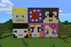 Minecraft!! Stampy,squid,lee bear,Amy,Rosie and finball!!