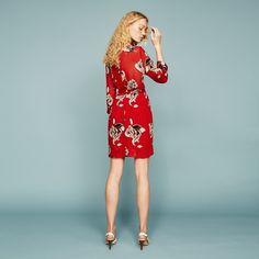 FWSS Not Dead red bloom shirt dress - FWSS - Fall Winter Spring Summer - shop online