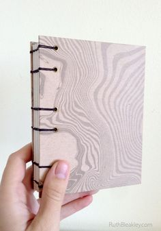 Handmade Diary Journal Lays flat when open Marbled by RuthBleakley