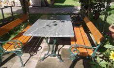 Auch diese Gartenlaube durften wir mit einer edlen #Tischplatte aus #Granit #Picasso veredeln. #steinreinisch Steinmetz, Outdoor Tables, Outdoor Decor, Picnic Table, Picasso, Outdoor Furniture, Home Decor, Garden Gazebo, Granite