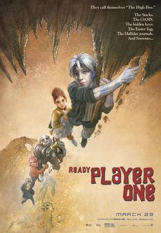 Check out this set of 12 classic movie posters recreated for Ready Player One featuring the High Five avatars Parzival, Aech, Daito, and Shoto. Classic Movie Posters, Classic Movies, Film Posters, Art Posters, Poster Frames, Fanart, Iconic Movies, Good Movies, Ready Player One Movie