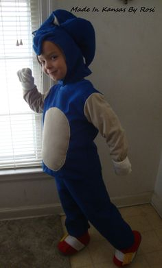 Sonic the Hedgehog costume for Halloween 2013, by Made In Kansas By Rosi... on facebook
