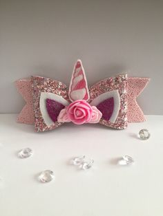 Fabric Embellishment, Unicorn Hair, Fabric Beads, Bubblegum Pink, Horns, Pretty In Pink, Pink Flowers, Hair Bows, Joseph