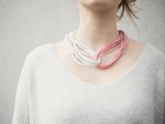 DIY tutorial: Make a Minimalist Leather Cord Necklace  via DaWanda.com