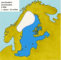 Finland after the Ice Age. Map Of Britain, Map Pictures, Ice Age, Old Maps, Prehistory, Historian, Geology, Nostalgia, Retro