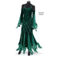 Emerald Velvet Dress - Women's Clothing & Symbolic Jewelry – Sexy, Fantasy, Romantic Fashions