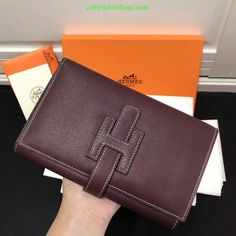 Hermes Wallet, Continental Wallet, Diy, Bricolage, Do It Yourself, Homemade, Diys, Crafting