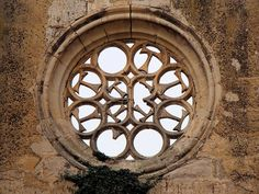 The Cross of Tau used to build patterns in a window at the Convent of Saint Anthony near Castrojeriz, Spain. The Tau was the favored symbol of St. Anton, Cathedral, Crosses, Spain, Letter, 15th Century, Antiquities, Patterns, Nifty