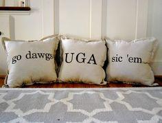 University of Georgia Throw Pillow Series (pack of 3)