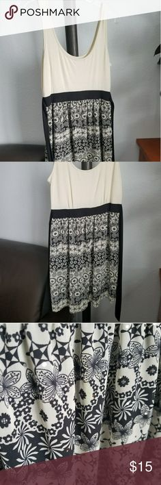 Sequined Tank Dress Soft tank dress with small sequins on the bottom skirt, ties in the back, worn a few times, very comfy and cute! Size medium. Charlotte Russe Dresses Mini
