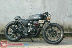 Modifikasi Yamaha Scorpio Cafe Racer