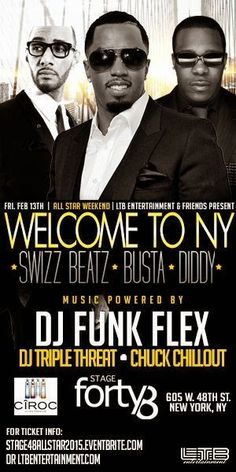 """Anew Productions: Diddy*Swizz Beatz*Busta Rhymes """"Welcome To NYC"""" Al..."""