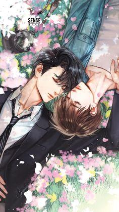 Anime Couples Manga, Cute Anime Couples, Cute Gay Couples, Anime Art Girl, Manga Art, Manga Anime, Anime Dad, Handsome Anime Guys, Cute Anime Guys