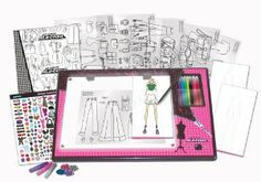 Project Runway Lightbox Lapdesk Super Set by Project Runway. $53.99. Light-box lap desk requires 4 AA batteries (not included). Store your sketches in your own portfolio which you customize. Use the design guide for tips and inspiration on how to color, embellish and add accent. The project runway fashion design light-box lap desk super set is perfect for aspiring fashion designers to get their career started. Simply trace the clothing designs using the light-box and fash...
